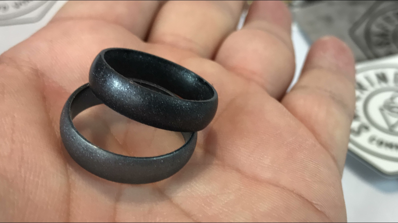 Black Gold Infinity Ring