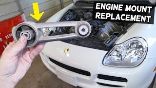 HOW TO REPLACE REAR UPPER ENGINE MOUNT ON PORSCHE CAYENNE  ENGINE VIBRATION FIX