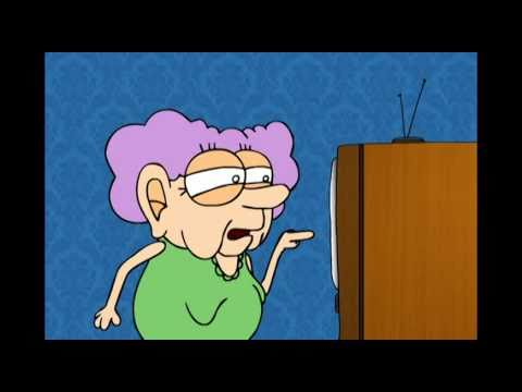 Old Lady Cartoon