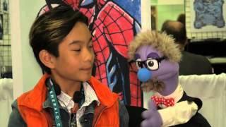 11-Year-Old Artist Ethan Castillo shows Flick how to draw Spider-man