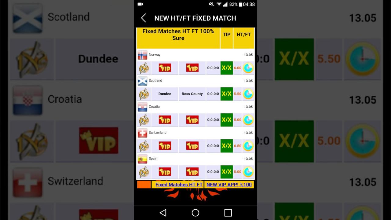 free fixed match ht ft gratuit