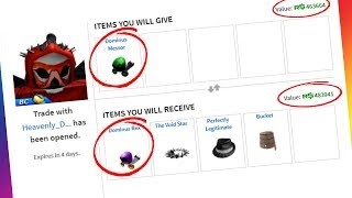 TRADING DOMINUS MESSOR FOR DOMINUS REX! (Roblox Trading)