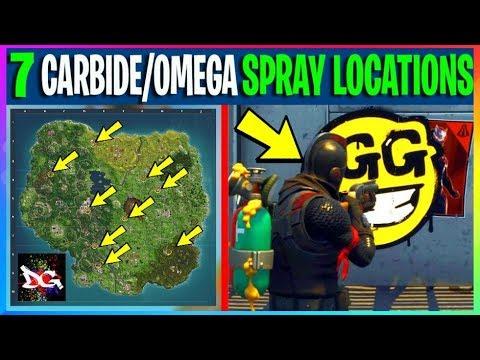*SOLVED* Spray Over CARBIDE & OMEGA Poster LOCATIONS (WEEK 6 CHALLENGES) Fortnite Battle Royale