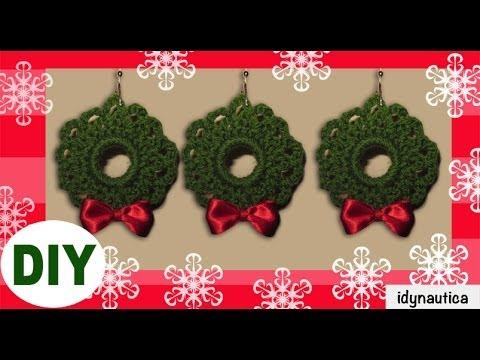 Diy crochet corona de navidad christmas wreath - Coronas de navidad ...