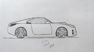 Как нарисовать Машину Легко и Просто - Уроки рисования для начинающих - Nissan 350 Z