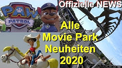 Movie Park 2020 Neuheiten - Lucky Luke Achterbahn - Paw Patrol Erweiterung - Laser-Walkthrough Infos
