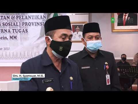 Pelantikan Dan Pengambilan Sumpah Jabatan Kepala Dinas Sosial Provinsi Riau