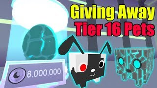 Giving Away Tier 16 Pets - Roblox Pet Simulator NEW UPDATE! (CYBORG UPDATE)