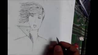 how to draw anime hair on windy air (male)