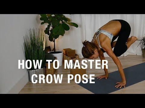 crow pose  how to do crow pose bakasana  yoga with live