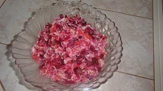 Винегрет овощной.Рецепт классического винегрета.(Как приготовить вкусный овощной винегрет.Такой витаминный салат прост в приготовлении и очень полезен..., 2015-05-27T15:04:11.000Z)