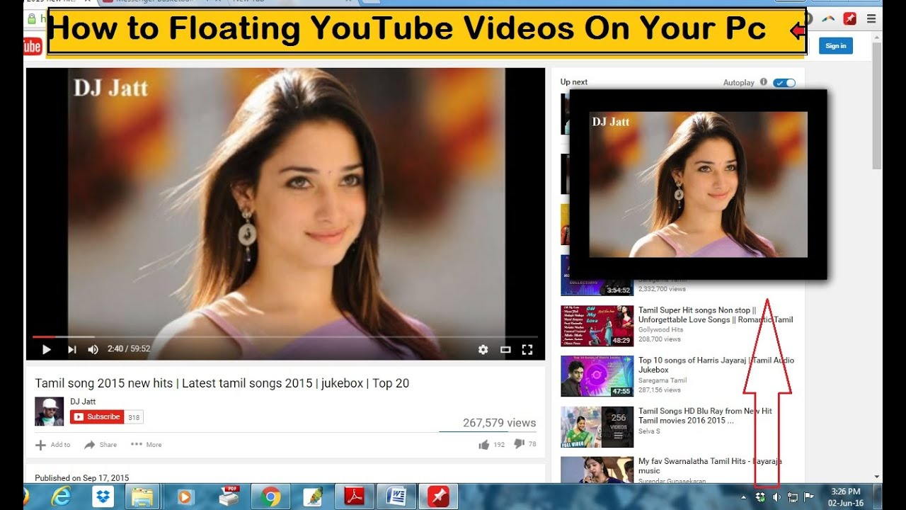 How To Floating Youtube Videos On Your Pc Youtube