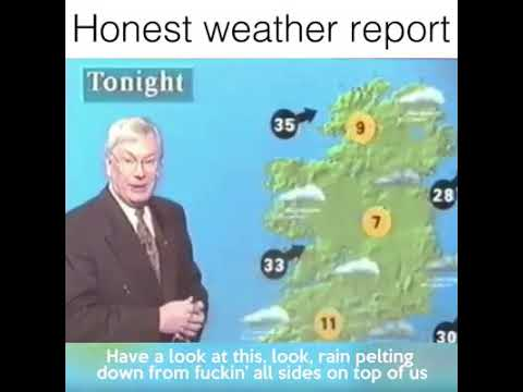 Funny Irish weather report for Hurricane Ophelia
