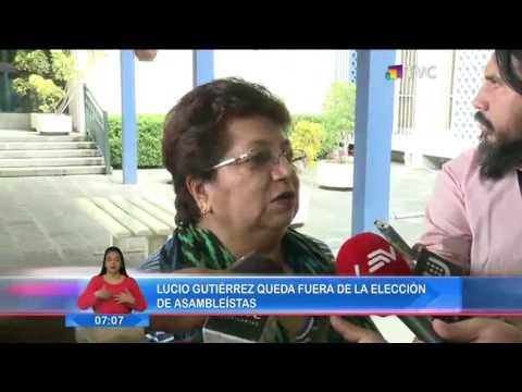 Lucio Gutiérrez quedó fuera de la elección de asambleístas