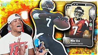 ULTIMATE LEGEND MICHAEL VICK & BETTIS THREW HIM 100 FEET! | Madden 18 Ultimate Team gameplay