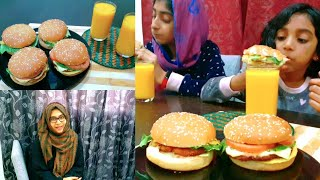 Homemade Chicken Burger/ Burger Pattees വീട്ടിൽ ഉണ്ടാക്കാം/Ayeshas Kitchen/ Flyerbin App/Easy Dinner