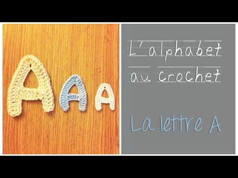 Alphabet au crochet en fran ais la lettre a youtube for Cuisinier francais 7 lettres