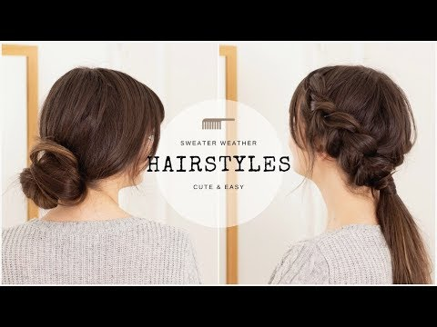 Sweater Weather Hairstyles | 5 Cute & Easy Styles For Long Hair