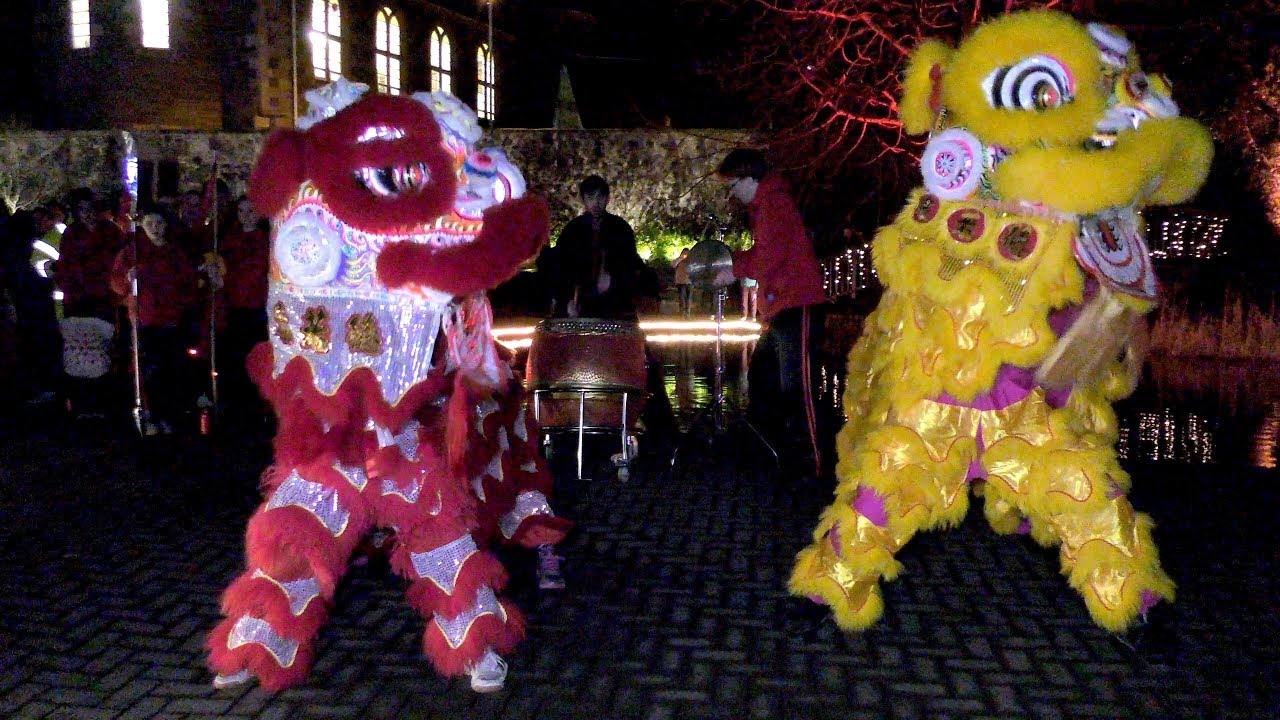 2018 Chinese New Year celebrations in Perth, Scotland, with Lion Dance & Kung Fu display