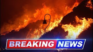 Ventura fire: Thousands evacuated in southern California (video footage)