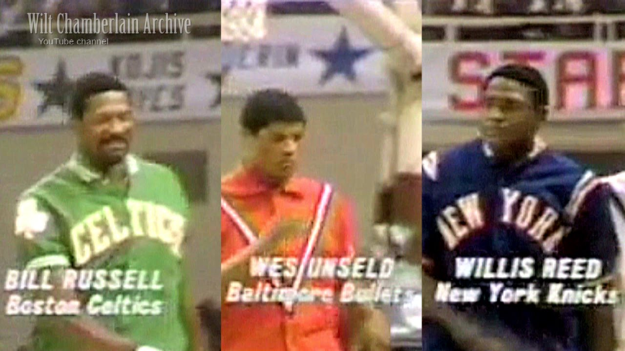 Bill Russell Wes Unseld Willis Reed 18pts 18reb 7a 7blks 2stls