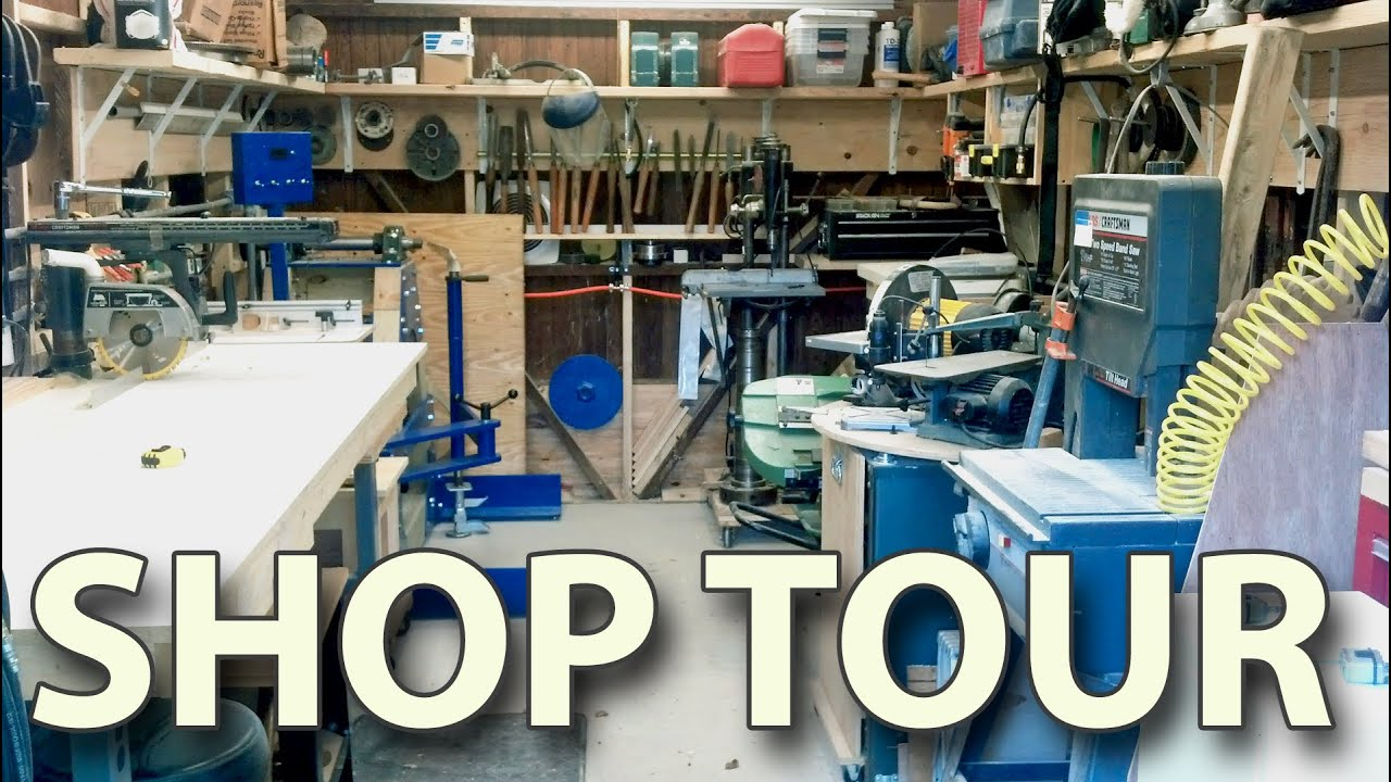home workshop. workshop tour - my home woodshop shop organizing ideas projects and lathes youtube u