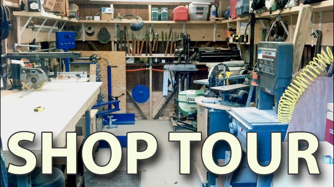 Workshop Tour My Home Woodshop Shop Organizing Ideas Shop