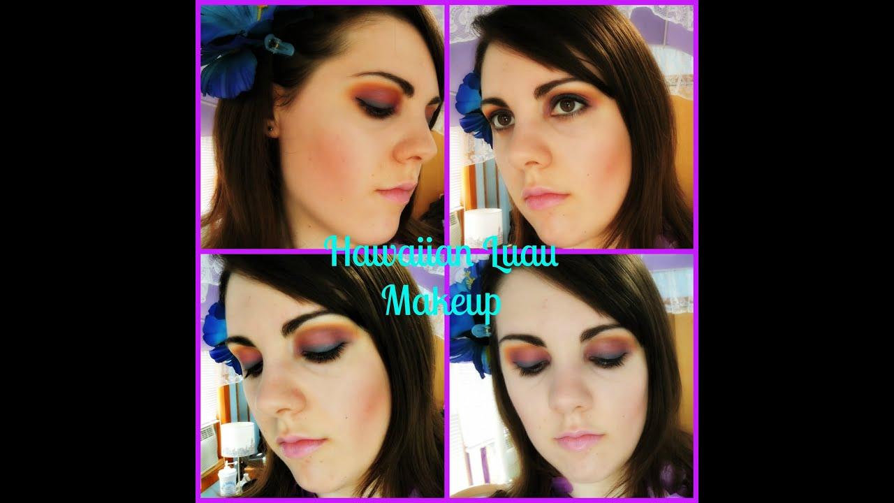 Hawaiian Luau Inspired Makeup Youtube