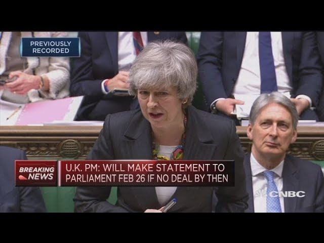 UK PM: Voting against Brexit agreement increases no-deal risk | Street Signs Europe