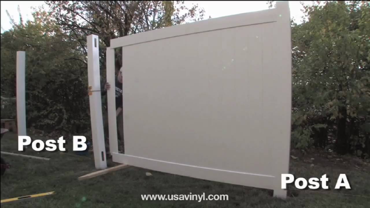 Vinyl Privacy Fence Installation From Www Usavinyl Com