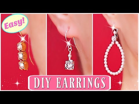 Diamond Earrings! How To Make Beaded Earrings - Swarovski Earrings / How to make earrings