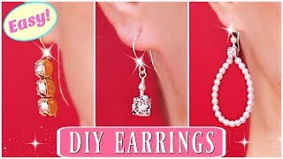 Diamond Earrings! How To Make Beaded Earrings - Swarovski Earrings / How to make earrings