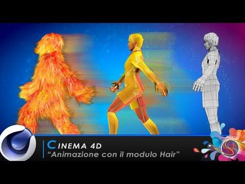 """TUTORIAL CINEMA 4D """"Animazione con il modulo Hair"""""""