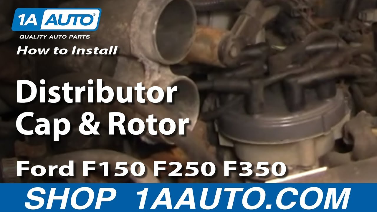 how to replace distributor cap and rotor ford 92 96 f150 250 350 youtube [ 1920 x 1080 Pixel ]