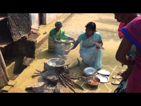 Tribal cooking in Tamil Nadu, South India