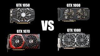 Какую видеокарту выбрать ? Сравнение(Тест) 1050 vs 1060 vs 1070 vs 1080 в 5 играх