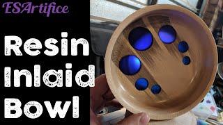 Resin Inlaid Bowl