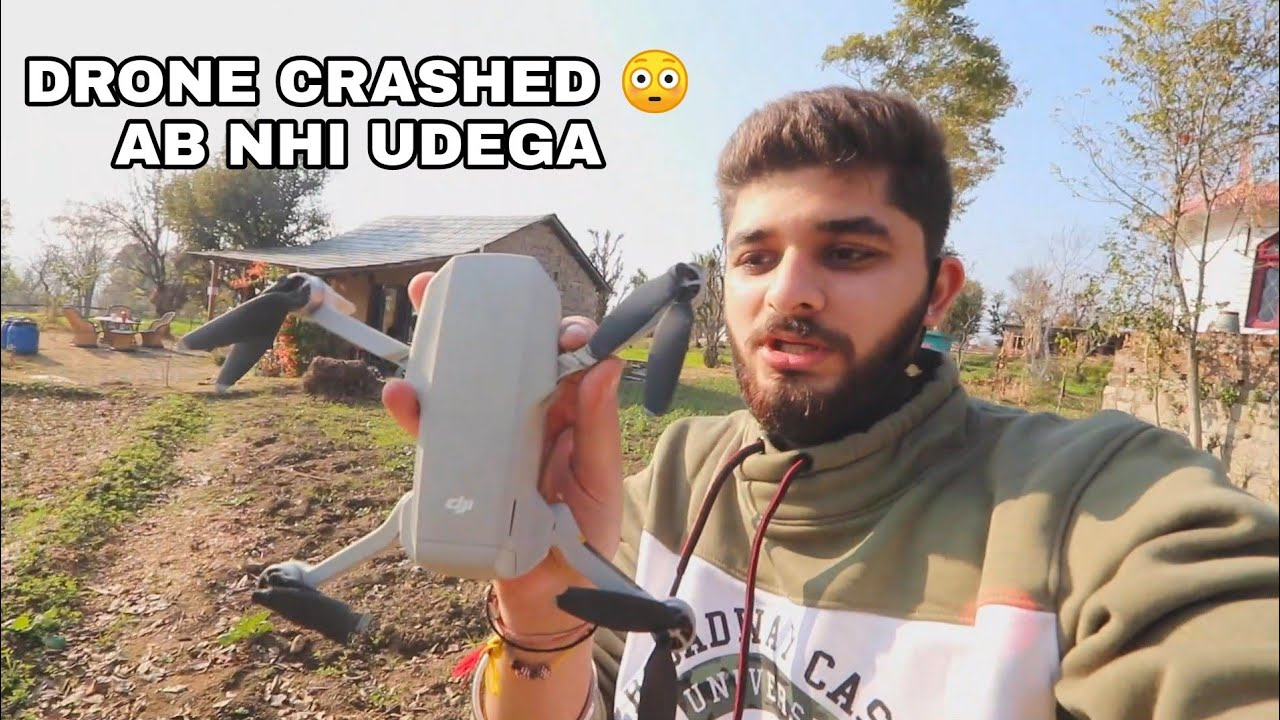 DRONE CRASHED AT BIR BILLING/ 78,000 KA FATKA?😳#dji #drone #crashed #scunit