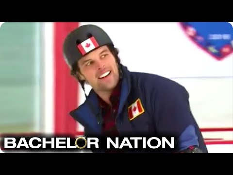 Kevin Wendt Shows Off On The Ice! | Bachelor Winter Games