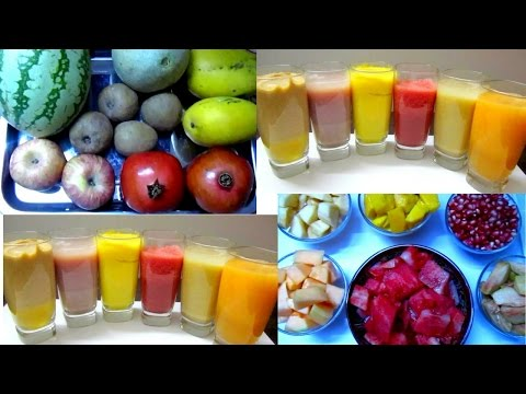 6 Quick and Easy Summer Drink Recipes | 6 Fresh Fruit Juices | Tamil Food Corner