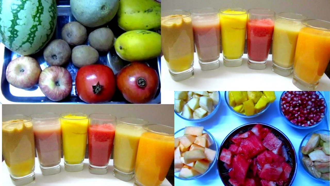 6 quick and easy summer drink recipes 6 fresh fruit juices tamil