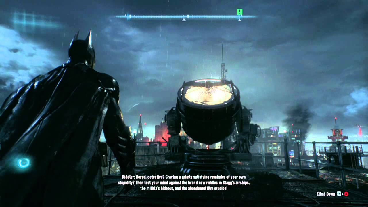 Batlight Shines On Line For Dark Knight >> Batman Arkham Knight Bleake Island Riddle 5 Bat Signal Youtube