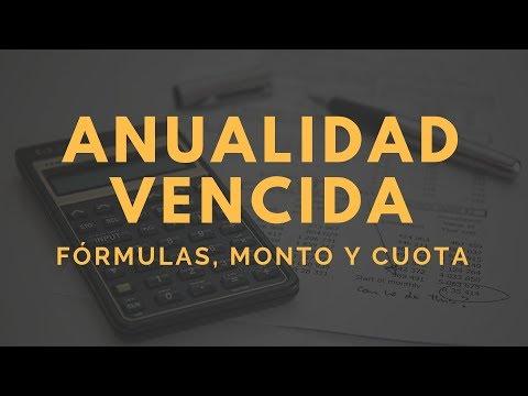 Series uniformes (Anualidades) Formulas, Monto y Renta - Alexander López