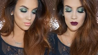 Holiday Party Look | Green Eyes + 2 Lips