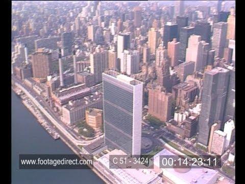 New York Aerial Footage - 1986