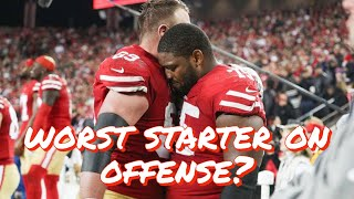 The Worst Starter on the 49ers Offense