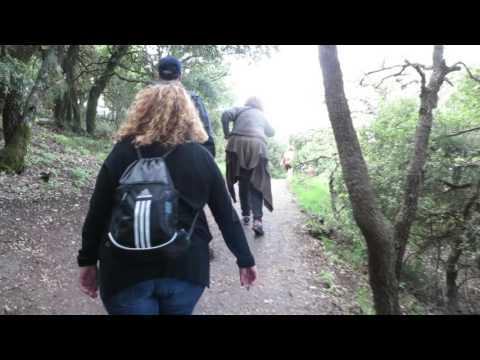 Hiking on Mt. Meron in Israel