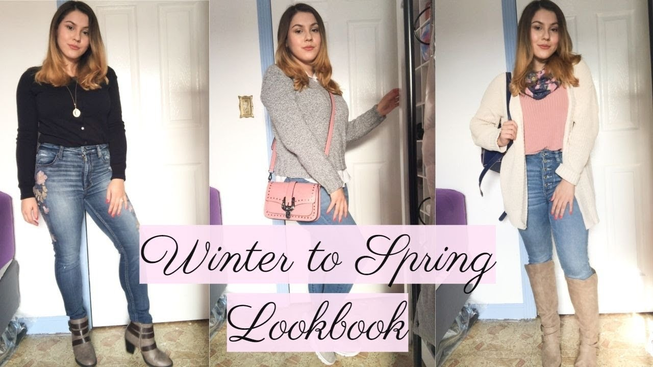 WINTER to SPRING TRANSITIONAL LOOKBOOK | 5 CASUAL OUTFITS | Priscilla Marie