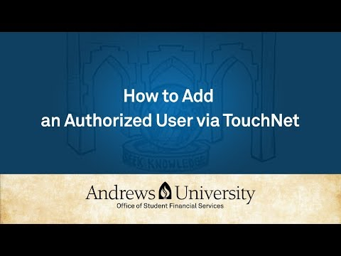 How to Add  an Authorized User via TouchNet