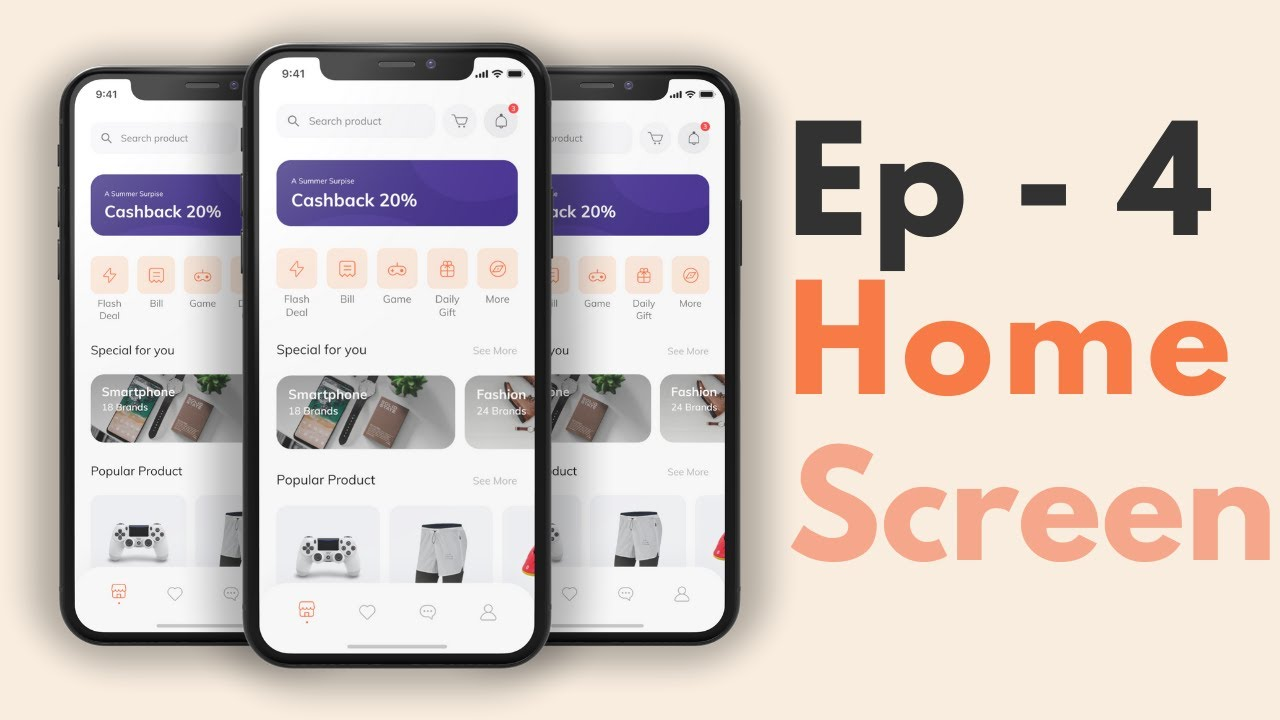 Home Screen - Complete E-Commerce App Flutter UI - Speed Code